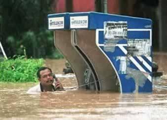 Por favor, deposite setenta y cinco centavos por las próximas tres pulgadas de lluvia.  ¡Gracias!