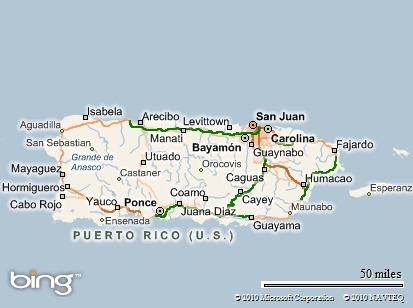 Localización de Caguas en el mapa de Puerto Rico.