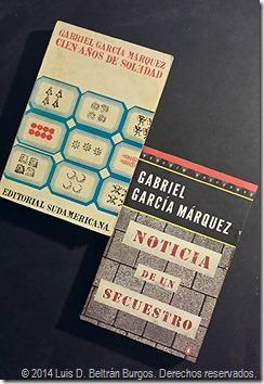 Dos de mis obras favoritas de Gabriel García Márquez: 'Cien Años de Soledad' (1967) y 'Noticia de un Secuestro' (1996).
